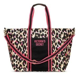 NWT Victoria's Secret Leopard Weekender Tote Bag